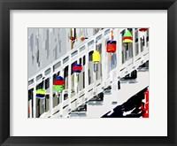 Framed Vibrant Buoys IV