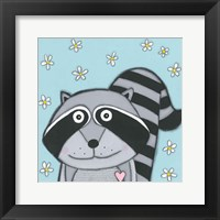 Super Animal - Raccoon Framed Print