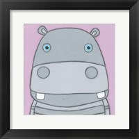 Framed Super Animal - Hippo