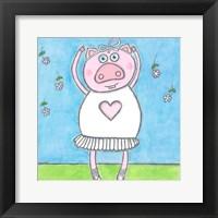 Framed Super Animal - Pig