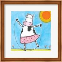 Framed Super Animal - Cow