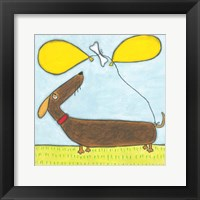 Framed Super Animal - Dachshund
