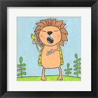 Framed Super Animal - Lion