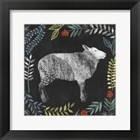 Chalkboard Farmhouse III Framed Print