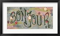 Framed Bonjour