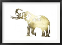 Framed Gold Foil Elephant I