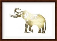 Framed Gold Foil Elephant I