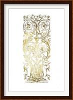Framed Gold Foil Renaissance Panel I