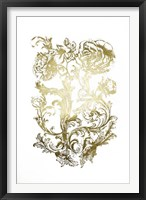 Framed Gold Foil Flora & Filigree