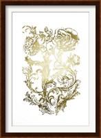 Framed Gold Foil Flora & Filigree