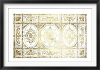 Framed Gold Foil Ceiling Design