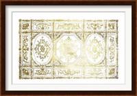 Framed Gold Foil Ceiling Design