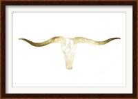 Framed Gold Foil Longhorn