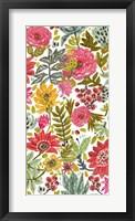 Multi Bloom Floral II Framed Print