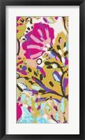 Pink Boho Floral I Framed Print