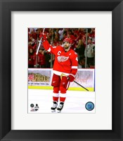 Framed Henrik Zetterberg last game at Joe Louis Arena- April 9, 2017