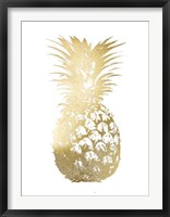Framed Gold Foil Pineapple I