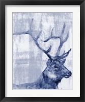 Framed Indigo Elk