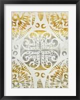Framed Tapestry Rosette I