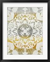 Framed Tapestry Rosette II