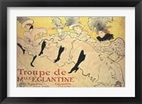 Framed La Troupe de Mademoiselle Eglantine