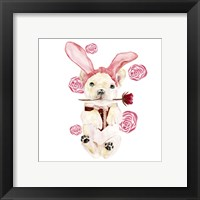 Framed Valentine Puppy I
