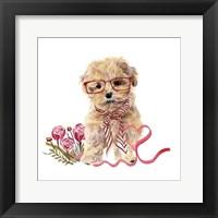 Framed Valentine Puppy II