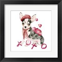 Valentine Puppy III Framed Print