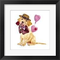 Valentine Puppy V Framed Print