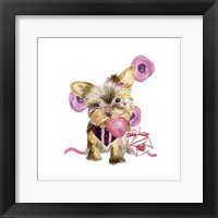 Framed Valentine Puppy VI