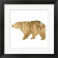 Brushed Gold Animals II Framed Print