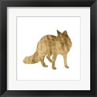 Brushed Gold Animals III Framed Print