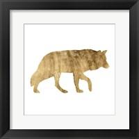 Brushed Gold Animals IV Framed Print