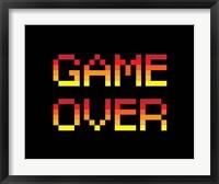 Framed Game Over  - Red