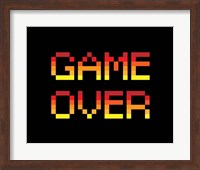 Framed Game Over  - Red