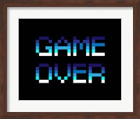 Framed Game Over  - Blue