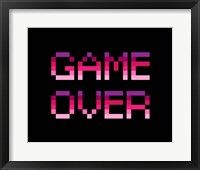 Framed Game Over  - Purple