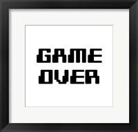 Framed Game Over  - White