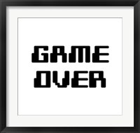 Framed Game Over  - White