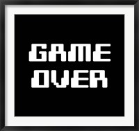 Framed Game Over  - Black