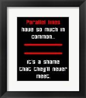 Framed Math Joke  - Black and Red