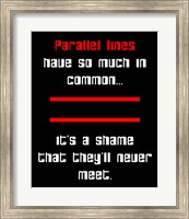 Framed Math Joke  - Black and Red