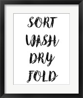 Framed Sort Wash Dry Fold  - White