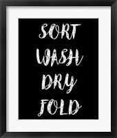 Framed Sort Wash Dry Fold  - Black
