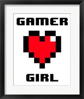 Framed Gamer Girl  - White