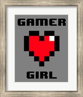Framed Gamer Girl  - Gray