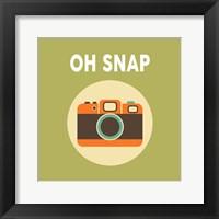 Framed OH SNAP Camera Green