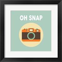 Framed OH SNAP Camera Blue