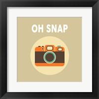 Framed OH SNAP Camera Beige