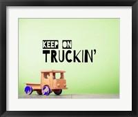 Framed Keep On Truckin' Green